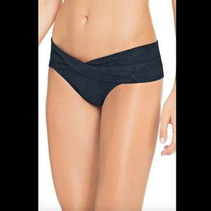 NEW Robin Piccone Ana Twist Bikini Bottoms in Blue